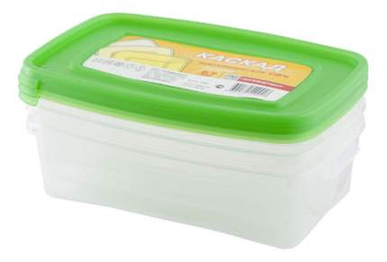 Набор контейнеров для СВЧ Полимербыт Каскад 0,7 л 3 шт.