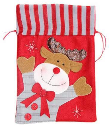 Мешок для подарков Новогодняя сказка Красный 19x28 см