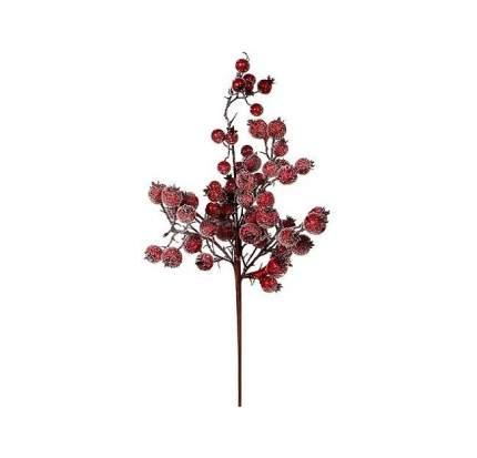 Ветка Ягодное Изобилие 43 см с красными заснеженными ягодами 83010