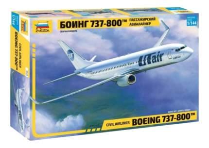 Модель пассажирского авиалайнера Боинг 737 800 Zvezda 7019П