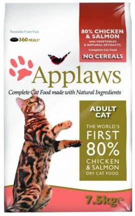 Сухой корм для кошек Applaws, беззерновой, курица, лосось, овощи, 7,5кг