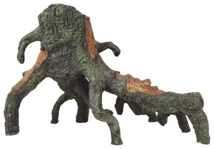 Коряга коряга 23см коричневый, зеленый