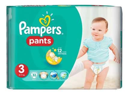 Трусики - подгузники Pampers Pants 6-11 кг - 32 шт