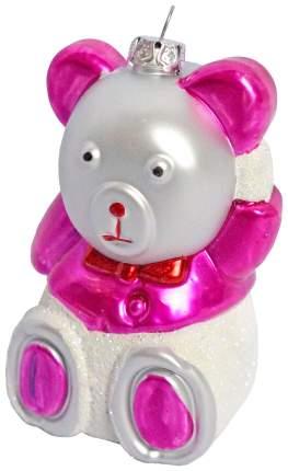 Набор елочных игрушек Новогодняя сказка 972312 Розовый, белый