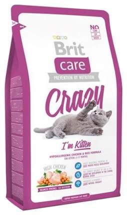 Сухой корм для котят Brit Care Crazy Kitten, курица с рисом, 2кг