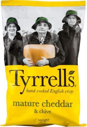 Картофельные чипсы Tyrrells со вкусом сыра чеддер и лука резанец 150 г