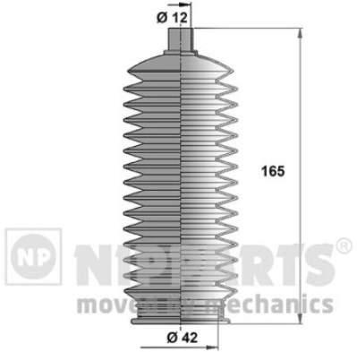 Пыльник рулевой рейки Nipparts N2847015