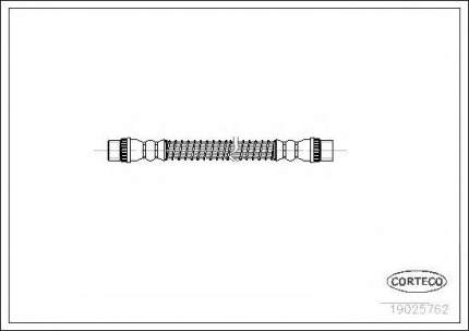Шланг тормозной Corteco 19025762