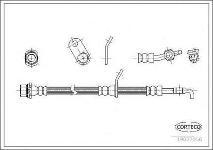 Шланг тормозной системы Corteco 19033056