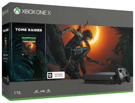 Игровая приставка Microsoft Xbox One X 1Tb Black + Игра Tomb Raider