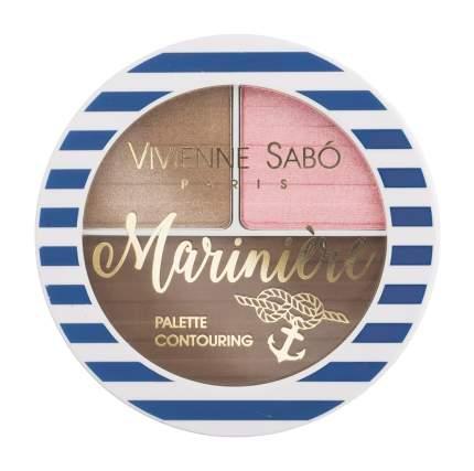 Румяна Vivienne Sabo Palette Contouring Pour Le Visage Mariniere 01 6 г
