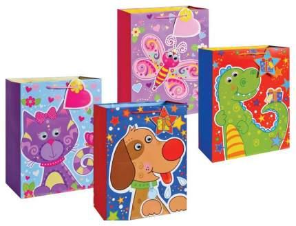 Пакет подарочный бумажный, 4 вида TZ14031 32x26x12 см в ассортименте