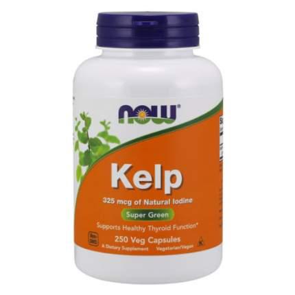 NOW Kelp 325 мкг (250 капсул) - Келп, бурая водоросль - природный источник йода
