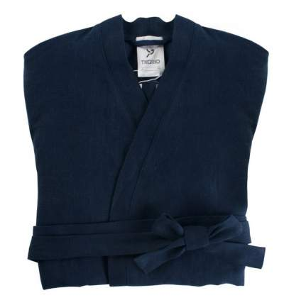 Халат из умягченного льна темно-синего цвета EssentialS