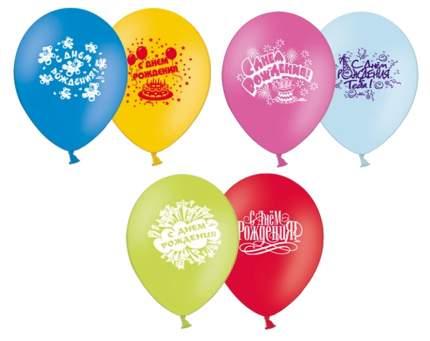 Набор шаров Веселая Затея С Днем рождения 30 см 10шт. в ассортименте