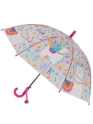 Зонт-трость МихиМихи Альпака с 3D эффектом розовый