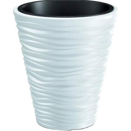Prosperplast Кашпо SEND с контейнером диаметр 35 см высота 39 см белый