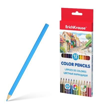 Цветные карандаши ErichKrause шестигранные 12 цветов
