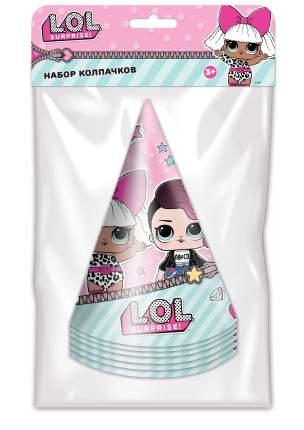 Набор праздничных колпачков ND Play. L.O.L. Surprise! мятный с розовым 6 шт