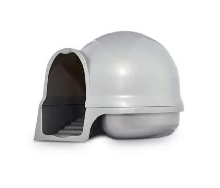 Туалет для кошек Petmate Booda Dome Cleanstep Cat Box, круглый, серый, 44х44х43 см