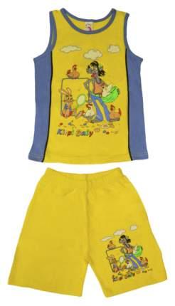 """Комплект для мальчика """"Kirpi Baby"""" (цвет: желтый/голубой, рост 128 см)"""
