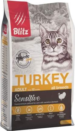 Сухой корм для кошек BLITZ Adult All Breeds Sensitive, индейка, 2кг