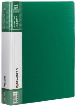 Папка на кольцах BRAUBERG Contract 221794 Зеленый A4