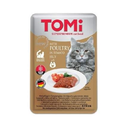 Паучи Tomi GF c птицей в томатном желе для кошек (100 г)