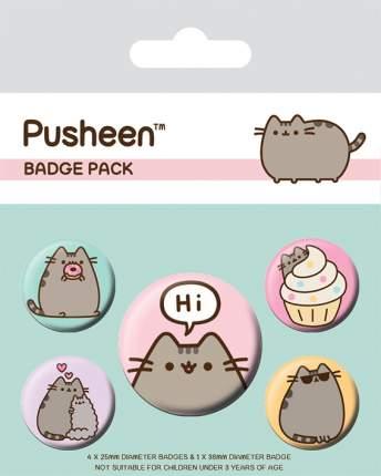 Набор значков Pyramid Pusheen - Pusheen Says Hi (5 шт) BP80624