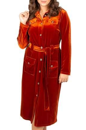 Платье женское BELUCHI Сафари оранжевое 46 RU