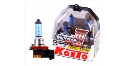 Лампа Koito Whitebeam, Комплект H8 12v 35w (70w) 2 Шт. Koito P0758W