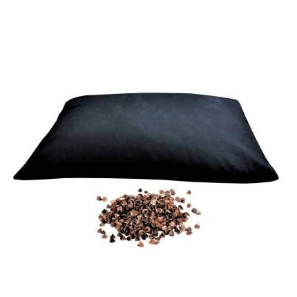 Подушка RamaYoga с наполнителем из гречишной лузги черный 41 x 32 см
