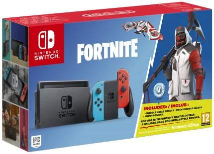 Портативная игровая консоль Nintendo Switch Red Blue + Fortnite