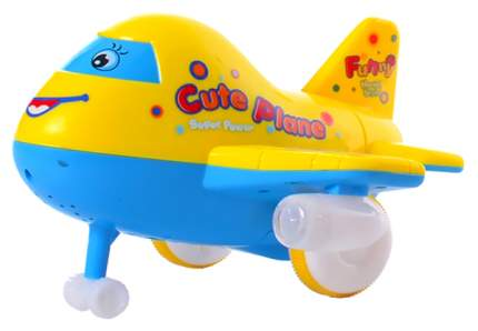 Веселый самолетик р/у, свет, звук, ZYB-B0363 Наша Игрушка