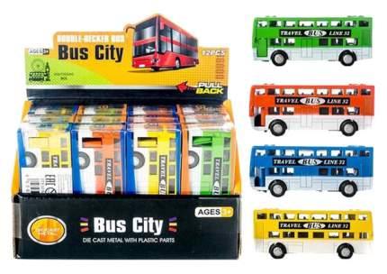 Городской транспорт Junfa Toys Автобус двухэтажный 8060-46