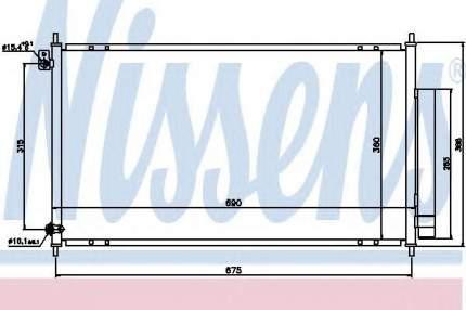Радиатор кондиционера Nissens 94732