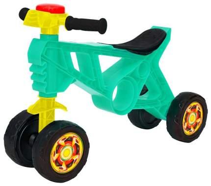 Каталка-беговел R-Toys Самоделкин 4 колеса с клаксоном бирюзовая ОР188