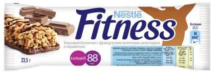 Батончик Nestle fitness злаковый с французским молочным шоколадом и карамелью 23.5 г
