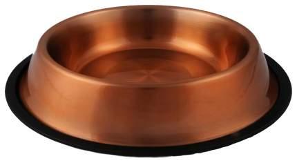 Одинарная миска для собак Ankur, металл, коричневый, оранжевый, 0.9 л