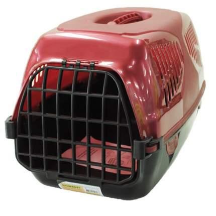 Переноска Homepet Путешественник для кошек и собак (Д 50 х Ш 33 х В 35 см, Красный)