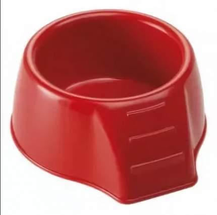 Одинарная миска для грызунов Ferplast, пластик, красный, 0.125 л