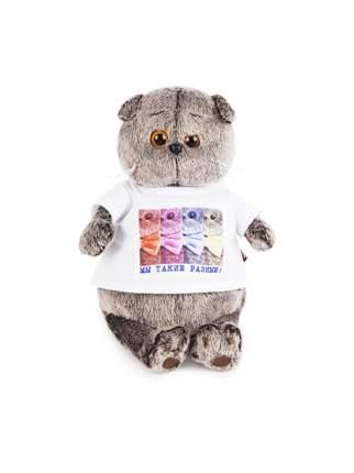 Мягкая игрушка BUDI BASA Кот Басик в футболке с принтом Мы такие разные, 30 см