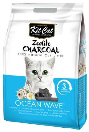 Комкующийся наполнитель туалета для кошек Kit Cat Zeolite Charcoal Ocean Wave 4 кг