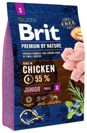 Сухой корм для щенков Brit Premium By Nature Junior S, для мелких пород, курица, 3кг