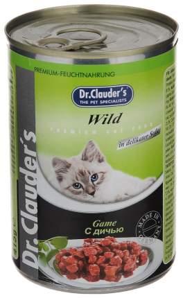 Консервы для кошек Dr.Clauder's, дичь, 20шт, 415г