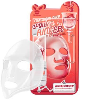 Маска для лица тканевая COLLAGEN DEEP POWER RING MASK PACK 23мл