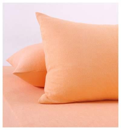 Наволочки махровые (персиковые) 70х70