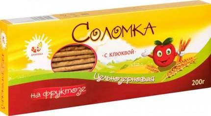 Соломка цельнозерновая Дивинка с клюквой на фруктозе 200 г