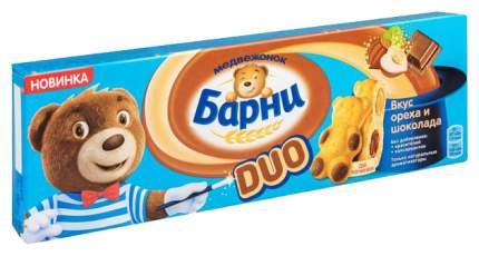 Пирожное бисквитное Барни duo вкус ореха и шоколада 150 г
