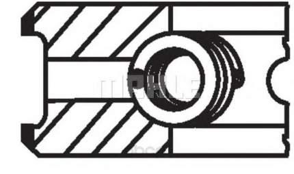 Кольца поршневые Mahle 01208N0